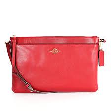 Coach 52638 East west Madison Swingpack Crossbody Bag Li red Currant