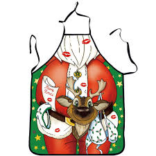 NEW BARLEY <b>Christmas Apron Decoration</b> For Kitchen Bar | Jingle