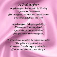 Beautiful Goddaughter Quotes Best Of Godson Poems