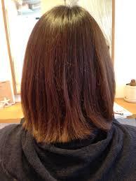 ハイライト切りっぱなしボブ人気のカラーと人気のヘアスタイルが