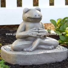 bsci factory polyresin frog statue