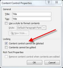 word deleting a locked content control cybertext newsletter word control box02