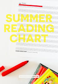 Summer Reading Chart Free To Print Make Your Own Reading