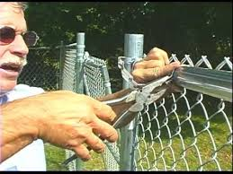 chain link fence ties.  Link How To Use Selflocking Fence Bands To Chain Link Fence Ties E