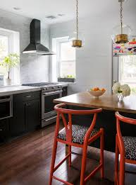 shiplap wall kitchen. black cabinets full wall marble tile backsplash white shiplap kitchen