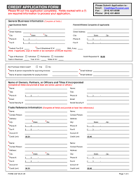 account application form template. CREDIT APPLICATION FORM Template in Word and Pdf formats