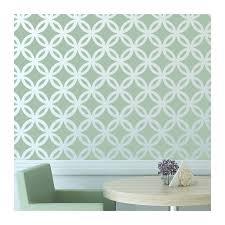 moroccan wall stencil lattice circle allover pattern for diy decor modern looks