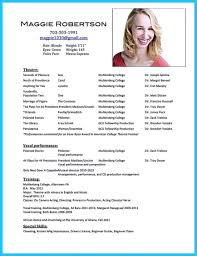 Actor Resume Resumes Headshot Sample Acting Format For Beginners