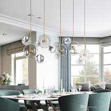clear glass ball living room chandeliers art deco bubble lamp shades chandelier modern indoor lighting restaurant iluminacao glass pendant pendant lamps