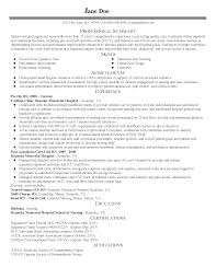 Resume Templates: Pre Post OP Nurse