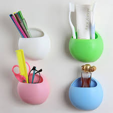 Cute Toothbrush Holder Suction Hooks Cups Bathroom Accessories ...