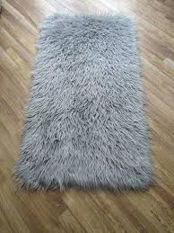 grey faux fur rug long pile gy fluffy x in ikea