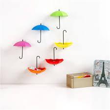 2016 new 3pcs/pack Umbrella shape Wall Mount Hook Key Holder Storage Rack  hanging hooks