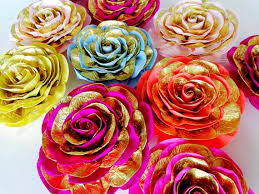 Did you scroll all this way to get facts about hindi wall art? Pink Gold Large Paper Flowers Wall Decor Wedding Arabia Night Etsy