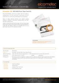 Elcometer 142 Iso 8502 3 Dust Tape Test Kit Elcometer