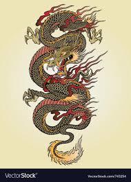 Asian dragon tattoo photo