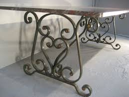Iron Dining Table Legs 1900s French Wrought Iron Marble Top Dining Table Furniture