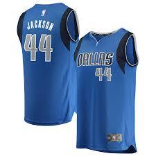 Justin Men's Mavericks Jackson - Blue Fanatics Icon Replica Fast Edition Jersey Dallas Break Branded