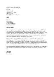 Cover Letter Examples For Students With No Experience 2018