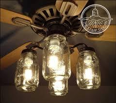 flush mount ceiling light mason jar fan
