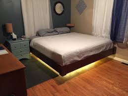 Floating Bed Magnetic Bedrooms Awesome Christmas Lights Decor Glittering Lights How To