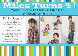 th birthday in spectacular 4th birthday invitation