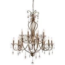 juglans 12 light antique gold chandelier