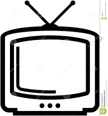 tv clipart black and white. pin tv clipart vector #2 black and white i