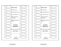 Lunch Seating Chart With Behavior Comments Seating Charts
