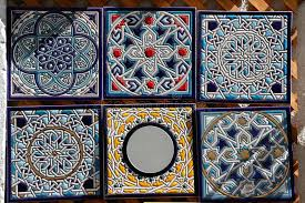 Hand Painted Decorative Ceramic Picture Tiles Decorative Hand Painted Ceramic Tiles For Sale Stock Photo 1