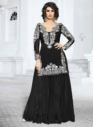 Black Sharara Designs Black Net Sharara Style Salwar Kameez 88266 Sharara
