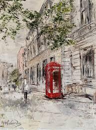 Walk to Work – oil on linen canvas   Wendy Richards Art