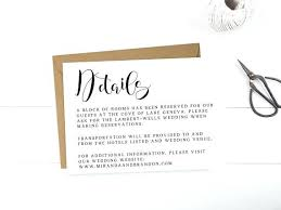 Wedding Accommodation Card Template Hotel Information Free Details