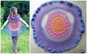 Crochet Circular Vest Pattern Free Classy DIY Crochet Circular Vest Sweater Jacket Free Patterns