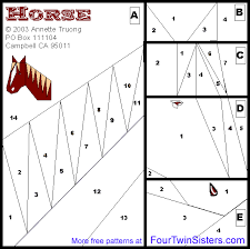 Easy Paper Piecing Patterns Free | Horse Quilt Pattern (Free ... & Easy Paper Piecing Patterns Free | Horse Quilt Pattern (Free) Adamdwight.com