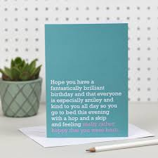 Birthday On Day Card Happy You Were Born Birthday Card By The Right Lines
