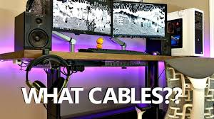 quick easy cable management tutorial how to cable manage a clean and minimalist desk setup you