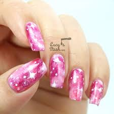Pink Galaxy Nails with TUTORIAL http://lucysstash.com/2014/03/pink ...