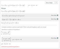 complex numbers equation calculator