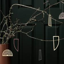 Ferm Living Christbaumschmuck Ornamente Gold 3er Set