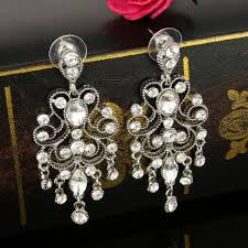 chandelier earrings vintage style dangle earrings crystal bridal earrings wedding accessories cz earrings bridesmaid earrings long