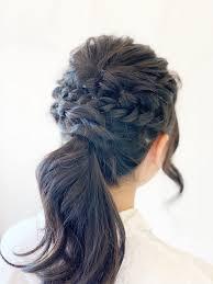 結婚式ヘアセット 編み込み 人気美容室のヘアセット 美容室yoshika