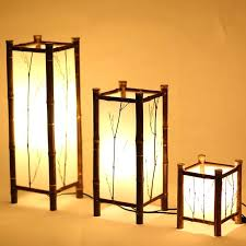 Bamboo Lantern Chandelier And Led Style Vintage Lamp Light Indoor Lighting Home Throughout Lights