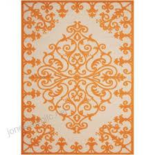 nourison aloha orange indoor outdoor area rug common 9 x 13