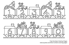 Small Picture Number Coloring Page FunyColoring