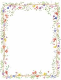 Paper With Flower Border Wedding Borders Clip Art Vector Frames And Borders Free