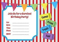 Carnival Invitation Template Free Luxury Carnival Themed Invitations