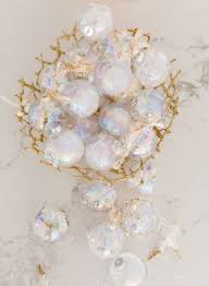 sydne style shows how to diy iridescent ornaments for glam decor