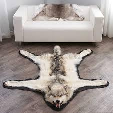 6 feet 3 inches 188 cm arctic wolf skin rug ep4155125b