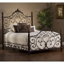 iron bedroom furniture. Baremore Iron Bed By Hillsdale Furniture | Wrought Metal Headboard Footboard Frame Complete Bedroom 3
